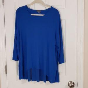 Cobalt Blue 3/4 sleeve Vince Camuto XL Top